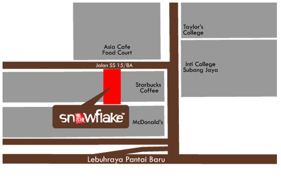 Map to Snowflake SS15 Subang Jaya